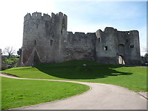ST5394 : Chepstow Castle entrance by Jeremy Bolwell