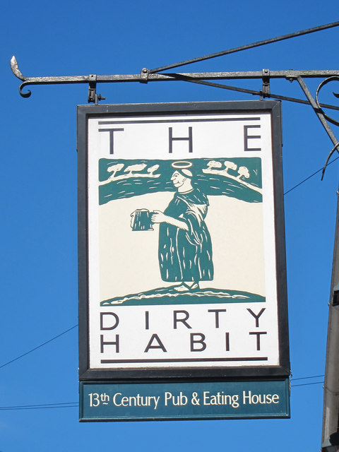 The Dirty Habit sign