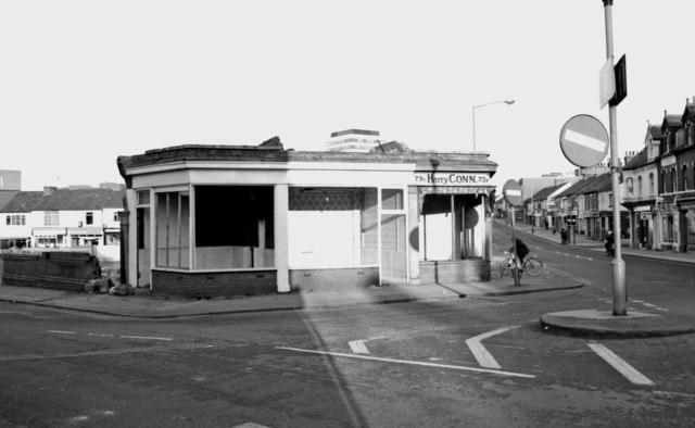 Empty shop units awaiting demolition, Commercial Road, Swindon