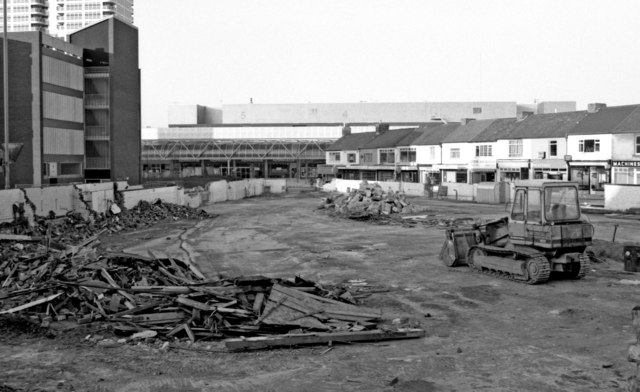Remains of the demolished Market Hall, Commercial Road, Swindon