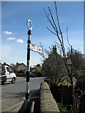 SE6183 : Old NRYCC road sign by Pauline E