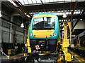 SP1084 : Train under repair, Tyseley Depot by Rob Newman