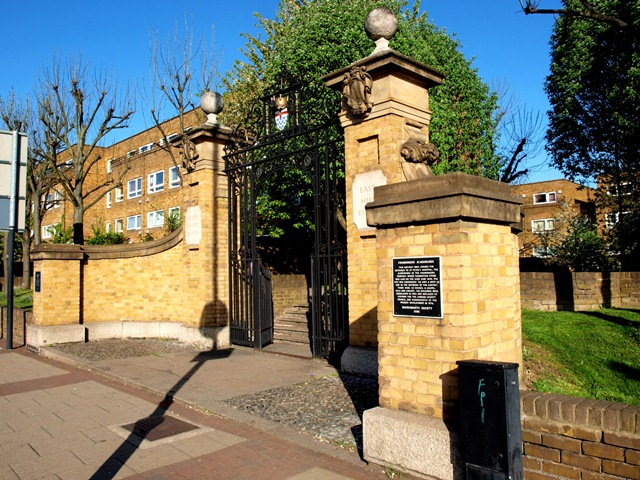 Gateway of the former Saint Peter's Hospital, once-upon-a-time Almshouses of the Fishmongers Guild