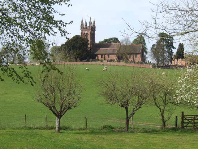 View to Enville Church