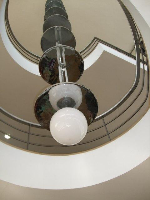 Lighting in De La Warr Pavilion Staircase