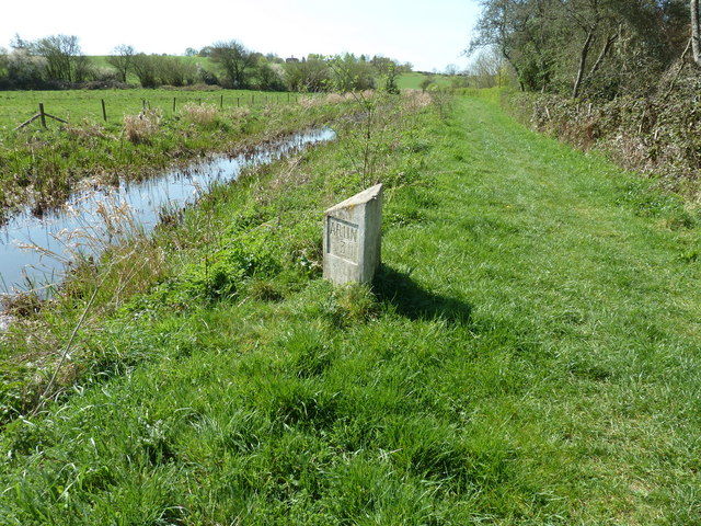 Milepost on the Wey and Arun Canal