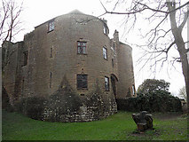 SO5504 : Entrance to St Briavels Castle and Youth Hostel by Row17