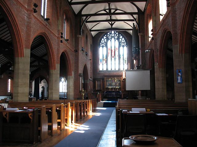St Luke's church: interior