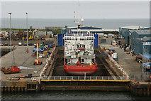 NJ9505 : Dry dock, Aberdeen Harbour by Mike Pennington