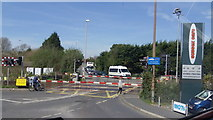 TQ0702 : Level Crossing East of Angmering Railway Station, West Sussex by John Fielding