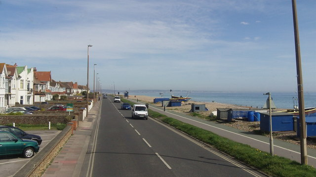The Coast Road (A259) at East Worthing, West Sussex