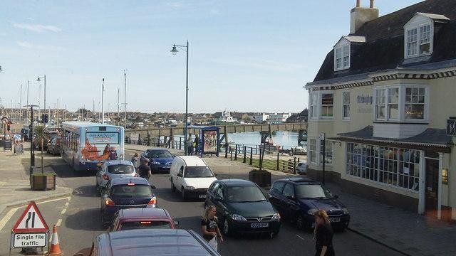Footbridge over the River Adur at Shoreham-By-Sea, West Sussex (2)