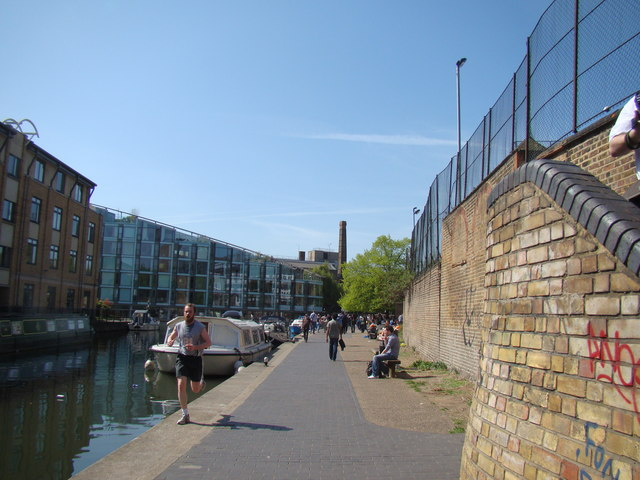 View of a former factory (now houses) from the Regent's Canal towpath