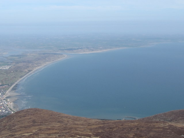 Dundrum Bay from near the summit of Donard