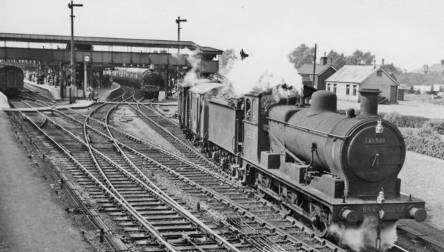 Up freight from Whitemoor Yard passing March Station