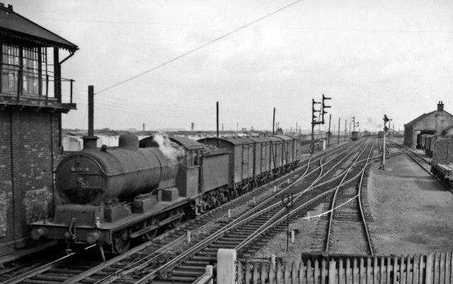 SE view at March South Junction, with an ex-GER J20 0-6-0 shunting