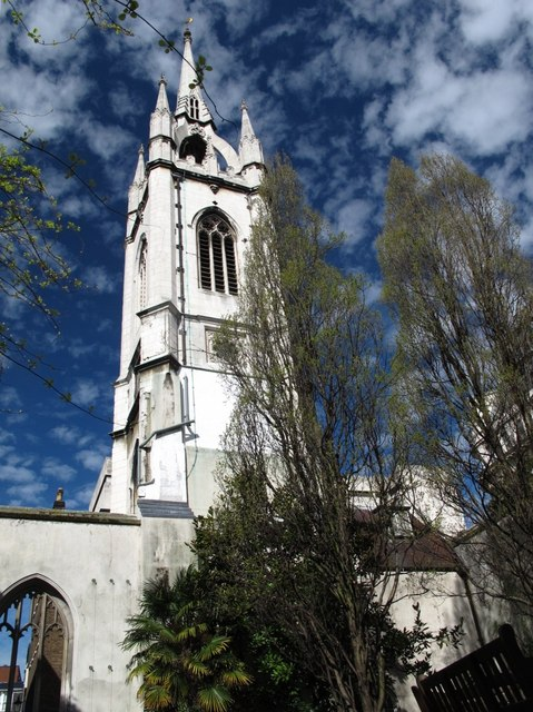 The tower of St. Dunstan-in-the-East (2)