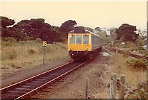 SW8132 : Train Approaching Falmouth Station 1981 by Rob Newman