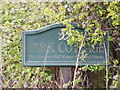TM3459 : Park Cottage Sign by Adrian Cable