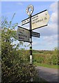 SP2263 : Finger post at end of Brittons Lane by David P Howard