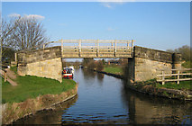 SK5023 : Zouch Cut Footbridge 44 by Mike Todd