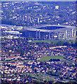 TQ1474 : Hounslow and Twickenham Stadium from the air by Thomas Nugent