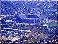 TQ1474 : Mogden sewage works and Twickenham Stadium from the air by Thomas Nugent
