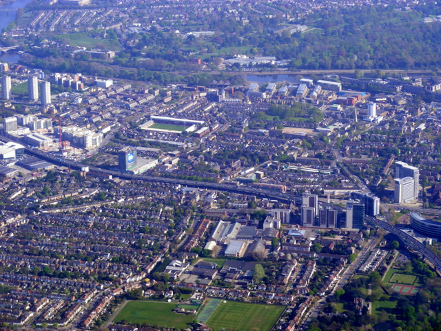 Elevated M4 at Boston manor from the air by Thomas Nugent