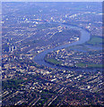 TQ2178 : Chiswick, Fulham and the Thames from the air by Thomas Nugent