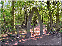 SJ8092 : Archway to Health Trail, Sale Water Park by David Dixon