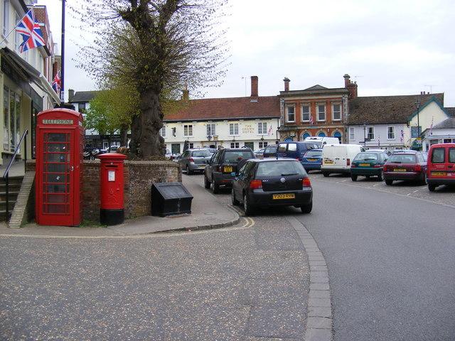 Market Hill & Market Hill Postbox