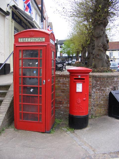 Telephone Box & Market Hill Postbox