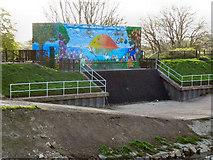 SJ8092 : Sale Ees Sluice Gate, River Mersey by David Dixon
