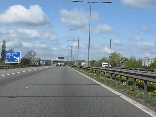 M40 Motorway at junction 1