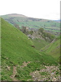 SK1482 : Peveril Castle from Cave Dale by Peter Turner