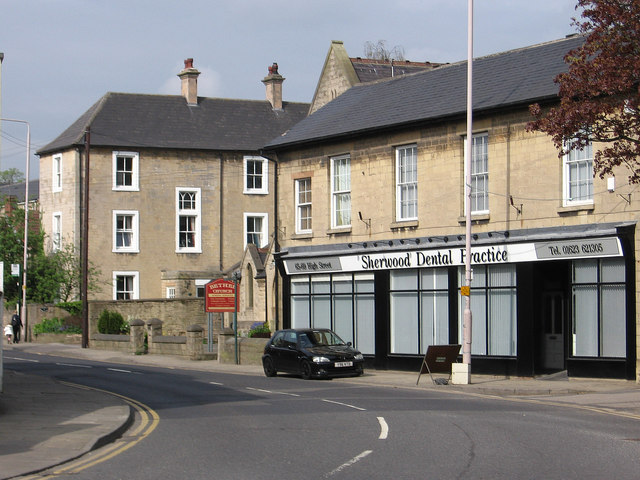 Mansfield Woodhouse - east end of High Street