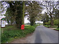 TM2246 : Playford Road & Playford Road Postbox by Adrian Cable