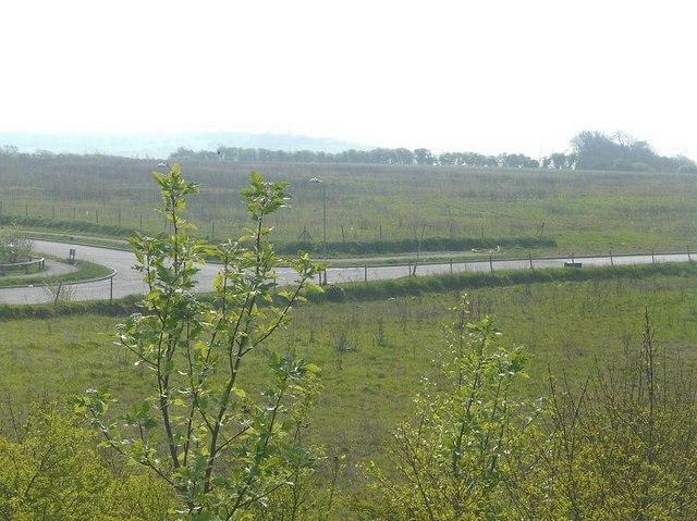 Undeveloped land, Hawkinge housing estate