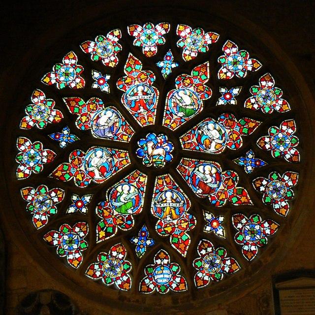 Rose window, St Mary's Church, Cheltenham