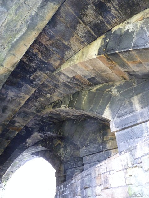 Arches under bridge, Y Felinheli