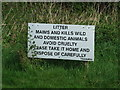 TM1862 : Litter Sign by Keith Evans
