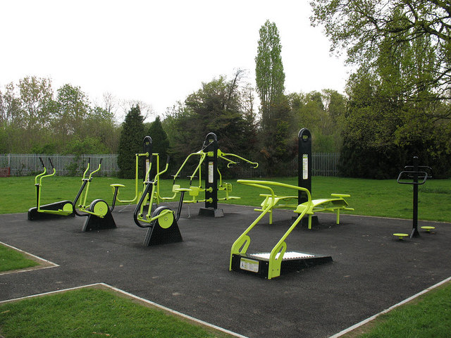 Outdoor gym in Fairy Hill Park