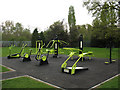 TQ4373 : Outdoor gym in Fairy Hill Park by Stephen Craven