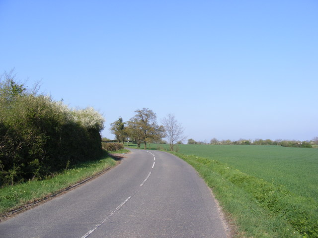 The B1119 Saxmundham Road