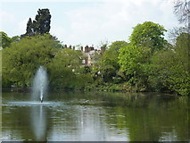 SP8633 : The lake at Bletchley Park by pam fray