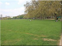 TQ2780 : Hyde Park alongside Park Lane by David P Howard