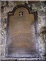 NZ3365 : Ellison memorial plaque in St Paul's Jarrow by Stanley Howe