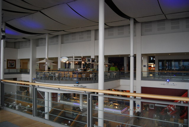 Inside Ocean Terminal Shopping Centre.