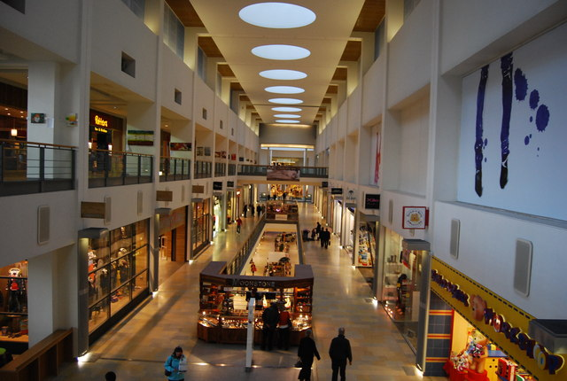 Inside Ocean Terminal Shopping Centre.