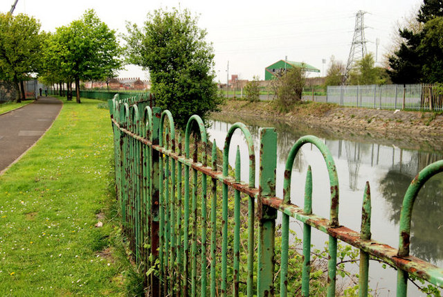 Connswater fence, Belfast